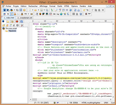 t201l201charger pspad editor gratuit gratuitement